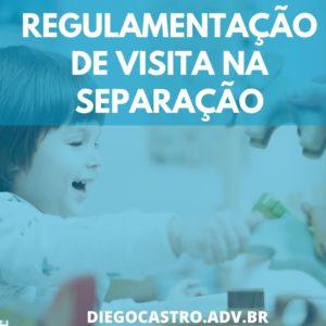 criança brincando com os pais no fundo com o titulo regulamentação de visita na separação