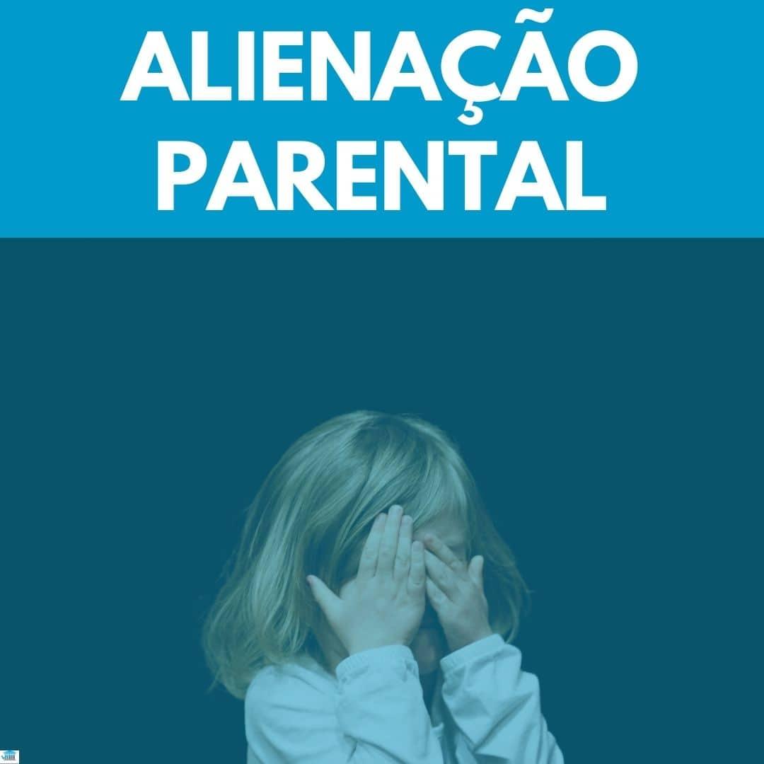 criança triste com o titulo alienação parental em cima