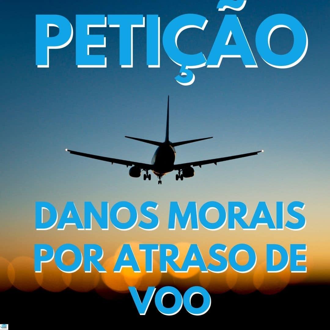 foto de um avião decolando com o titulo petição danos morais por atraso de voo em azul
