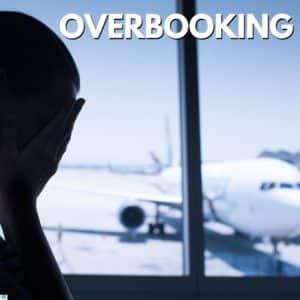 foto de uma pessoa triste por ter seu voo sofrido overbooking