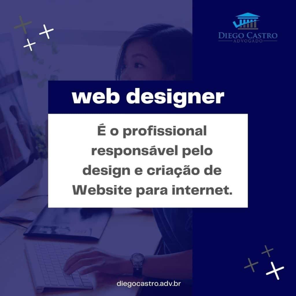 É o profissional responsável pelo design e criação de Website para internet.