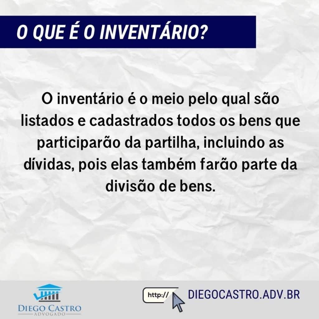 O inventário é o meio pelo qual são listados e cadastrados todos os bens que participarão da partilha, incluindo as dívidas, pois elas também farão parte da divisão de bens.
