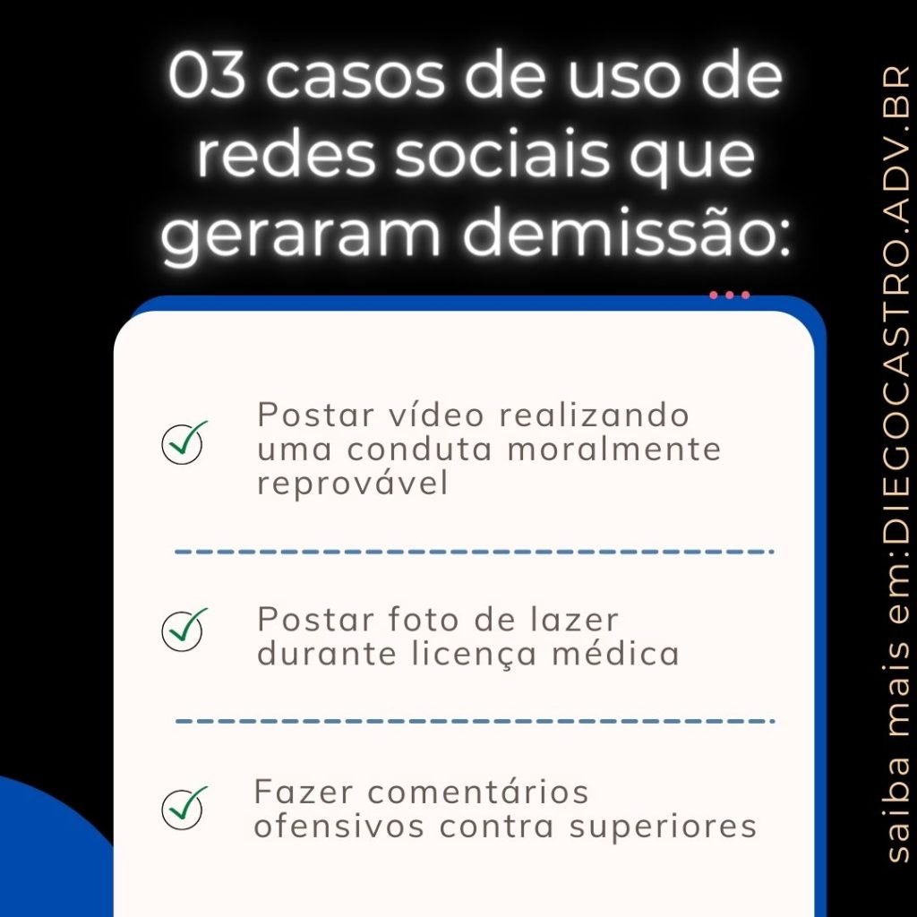 causas demissão redes sociais