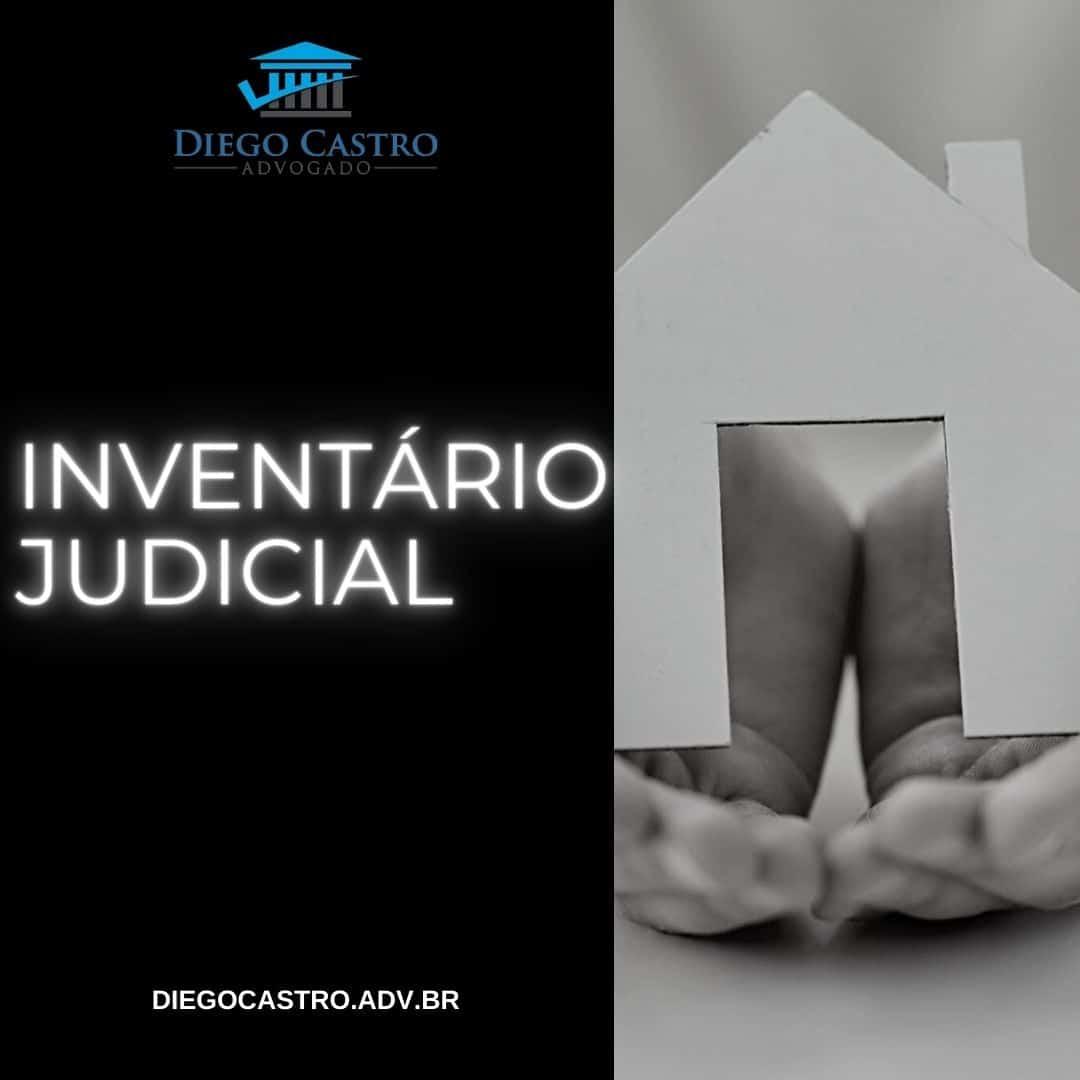 foto de uma pessoa segurando uma casa e o titulo inventário judicial na esquerda