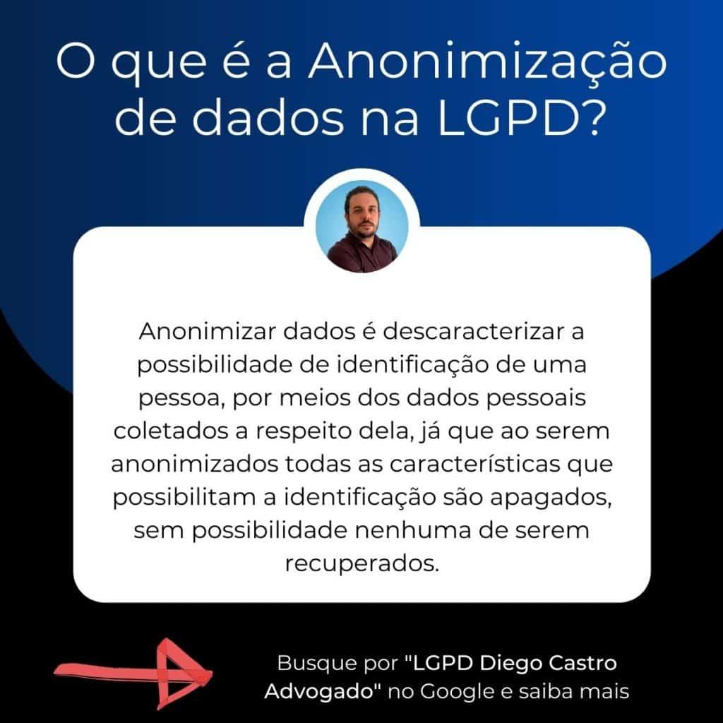 descrição do que é anonimização de dados na lgpd