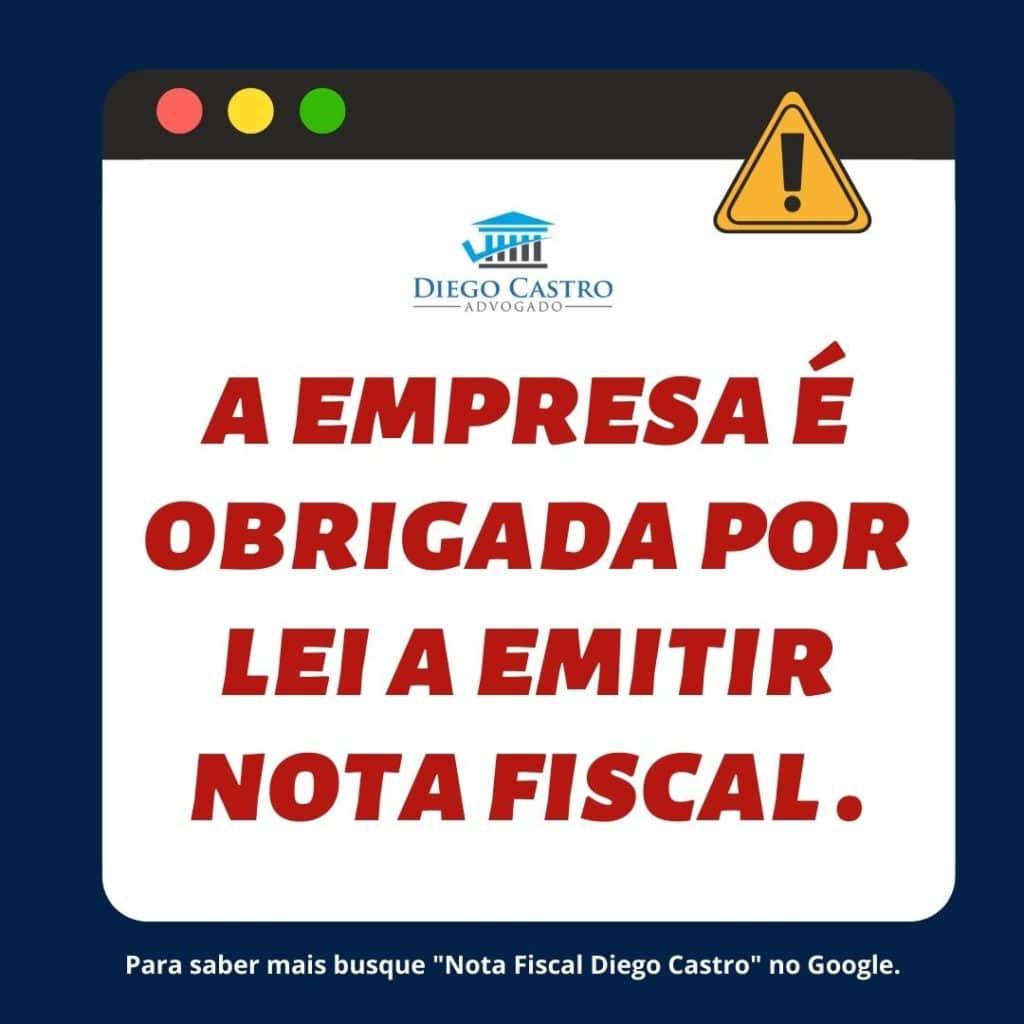 empresa obrigada por lei a emitir nota fiscal