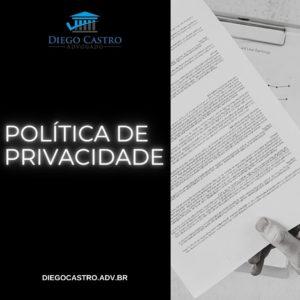 foto de uma politica de privacidade a direita e o titulo a esquerda