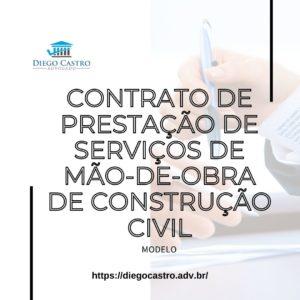 Contrato de Prestação de Serviços de mão-de-obra de construção civil