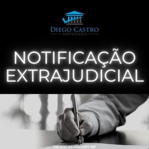 documento sendo assinado com titulo notificação extrajudicial em branco