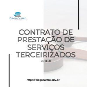 Modelo de contrato de prestação de serviços terceirizados